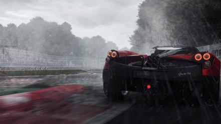 Project cars pagani huayra game rain wallpaper