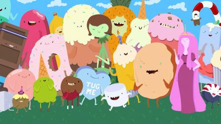 Adventure time candies wallpaper