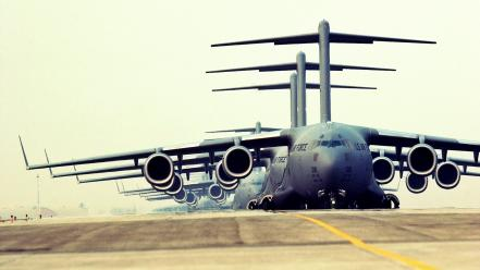 Aircraft united states air force c-17 globemaster Wallpaper