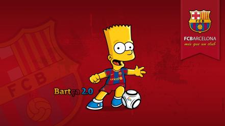 Bart simpson fc barcelona the simpsons blaugrana cartoons Wallpaper
