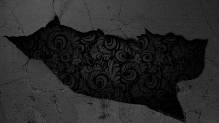 Black and white flowers textures crack wallpaper