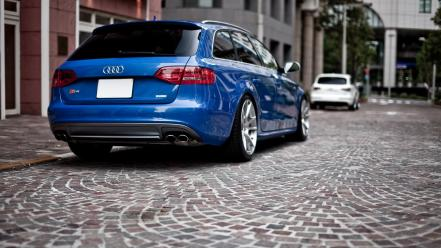 Blue cars avant audi s4 wallpaper