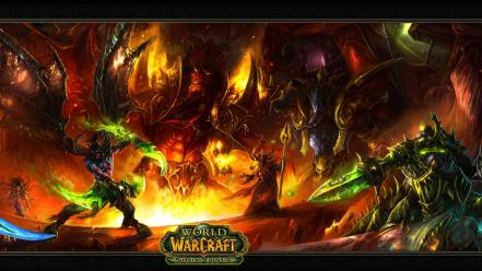 Game burning crusade swords and sorcery evil wallpaper
