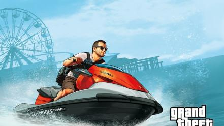 Grand theft auto rockstar games jetski gta v wallpaper