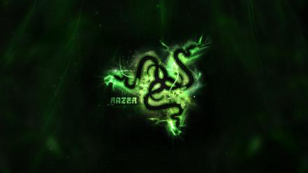 Green video games razor razer wallpaper