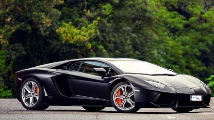 Lamborghini aventador black cars wallpaper