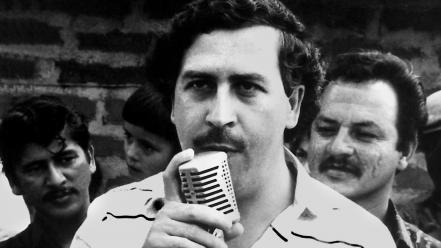 Monochrome pablo escobar wallpaper