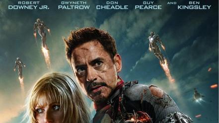 Movie posters pepper potts iron man 3 Wallpaper