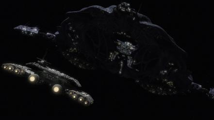 Space stars futuristic stargate atlantis spaceships shows wallpaper