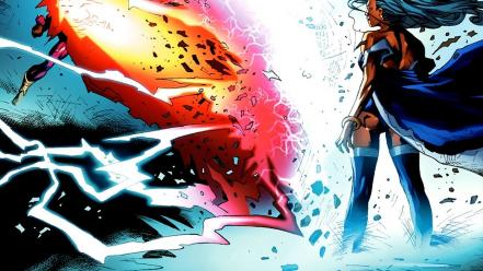X-men marvel comics cyclops storm (x-men) Wallpaper