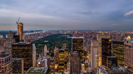 Central park overcast hdr photography modern evening wallpaper