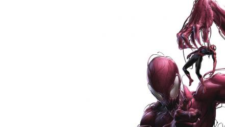 Comics spider-man carnage artwork simple background white symbiote wallpaper