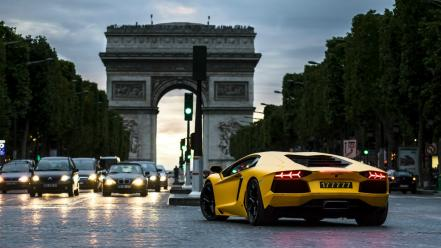 Paris cars lamborghini france wallpaper