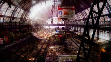 Station amsterdam abandoned city roy korpel wallpaper