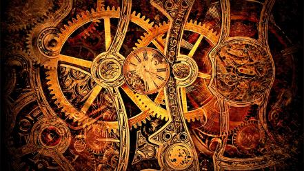 Steampunk gears clockwork widescreen watch cogs wallpaper