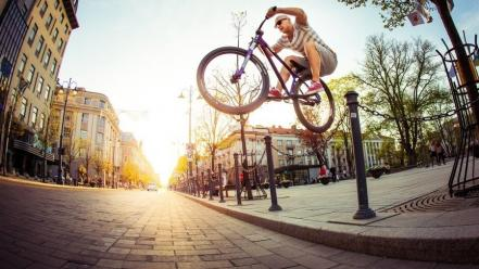 Sun bicycles bmx stunts street Wallpaper