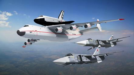 Aircraft army space shuttle antonov an-225 wallpaper