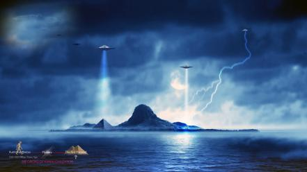 Alien civilization ufo australopithecus human Wallpaper