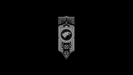 And fire banner black background house stark wallpaper