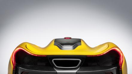 Back cars yellow mclaren p1 wallpaper