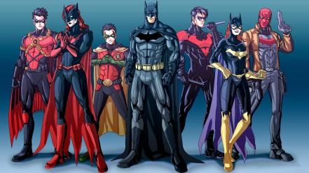 Batman robin dc comics batgirl nightwing red hood Wallpaper