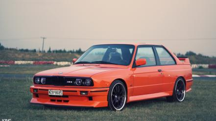 Bmw e30 m3 nature orange wallpaper