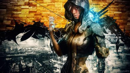 Cyberpunk artwork heroine remember me grafiti nilin wallpaper