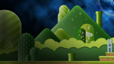 Green super mario world wallpaper