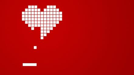 Minimalistic red white hearts arkanoid wallpaper