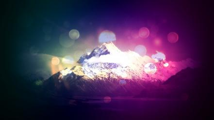 Mountains nature effects montaña Wallpaper