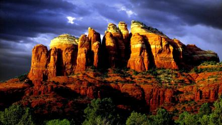 Nature trees arizona skies red rock sedona wallpaper
