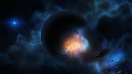 Outer space planets digital art artwork wallpaper