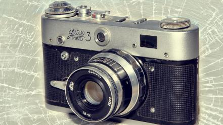 Russian cameras lens retro wallpaper