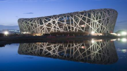 Stadium beijing national birds nest wallpaper