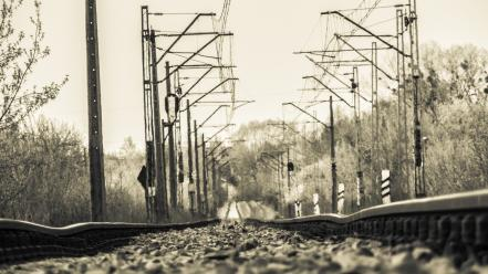 Trains railroad tracks wallpaper
