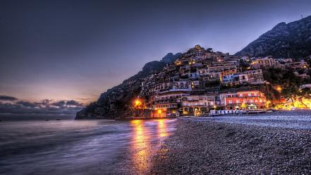 Cityscapes positano wallpaper