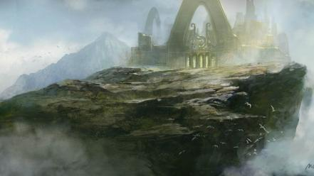 Landscapes fantasy art gate artwork cities wallpaper