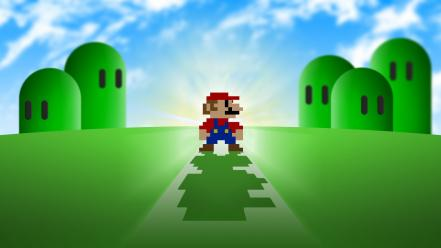 Mario super bros. retro games video wallpaper
