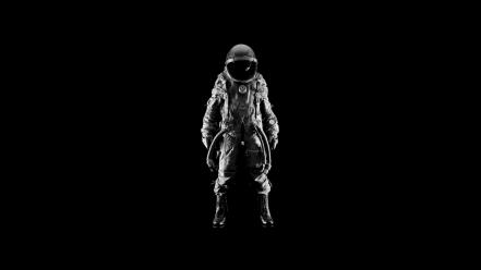 Men suit helmets simple background black astronaut wallpaper