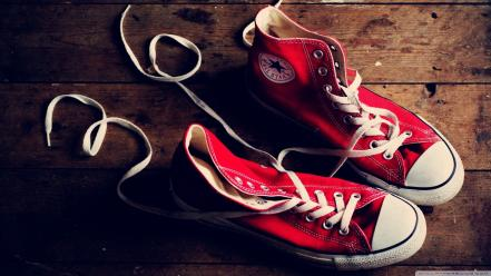 Red converse sneakers wallpaper