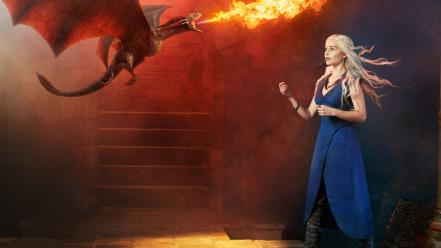 Thrones tv series daenerys targaryen emily clarke Wallpaper