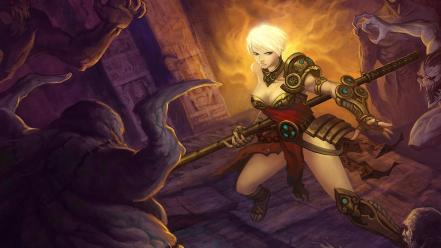 Games fantasy art artwork diablo iii monk wallpaper