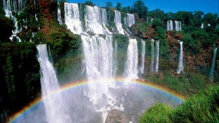 Landscapes nature argentina waterfalls national park wallpaper