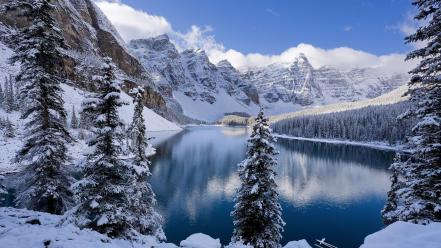 Moraine Lake In Winter Canada wallpaper