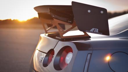 Sunset cars vehicles jdm nissan r35 gt-r taillights wallpaper
