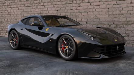 Black cars ferrari wheels f12 berlinetta wallpaper