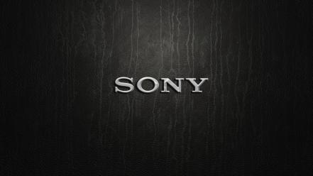 Leather sony brands logos computers wallpaper