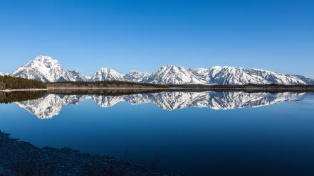 Mountains landscapes grand teton national park skies wallpaper