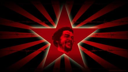 Revolution che guevara red star leader murderer guerrilla wallpaper