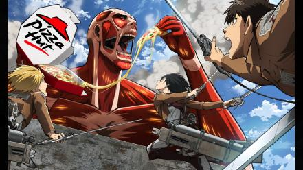 Ackerman eren jaeger armin arlert pizza hut wallpaper